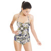 Seamless Vintage Abstract Inspired Floral Textile (Swimsuit)