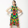 Bright Abstract Multicolored Pattern (Dress)