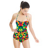Bright Abstract Multicolored Pattern (Swimsuit)