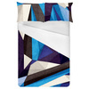 Blue Texture Geometric Pattern (Bed)