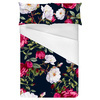 Vintage Roses on Darkblue Background (Bed)