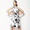Black and White Tropic Design (Dress)