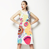 Expressive Bloom Organic Loosely Drawn Flowers Floral Bohemian (Dress)