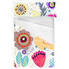 Expressive Bloom Organic Loosely Drawn Flowers Floral Bohemian (Bed)