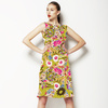 Bohemian PInk Floral Field of Flowers Cottage (Dress)