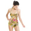 Bohemian PInk Floral Field of Flowers Cottage (Swimsuit)