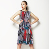Red, Blue and Zebra (Dress)