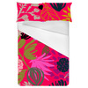 Hot Pink Tropical Drawn Style Floral Blooms (Bed)