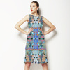 Crazy Triangles Mirrored Pattern (Dress)