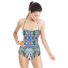 Crazy Triangles Mirrored Pattern (Swimsuit)