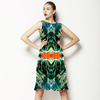 Tropical Leaves and Flowers (Dress)
