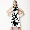 Floral Monochrome Pattern (Dress)