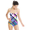 Mix Stripes Plaid and Checks Pattern 16 (Swimsuit)