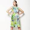SS 2017 Fresh Tropical Drawn Style Floral Blooms (Dress)
