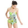 SS 2017 Fresh Tropical Drawn Style Floral Blooms (Swimsuit)