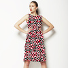 Black, White and Red Geometric (Dress)