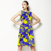 Abstract Colorfull Inspired Irregular Floral Abstrac Textile (Dress)