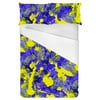 Abstract Colorfull Inspired Irregular Floral Abstrac Textile (Bed)