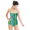 Multi-Colored Funky Graphic Stripes (Swimsuit)
