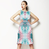 Abstract Tropical Pineapple Pattern (Dress)