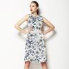 (Des 017) Flowers on Batik Background (Dress)