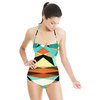 Geometric Colorful Pattern (Swimsuit)