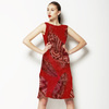 Soft Red African Feather (Dress)