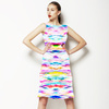 Mirrored Painterly Abstract (Dress)