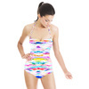 Mirrored Painterly Abstract (Swimsuit)