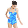 Blue Porcelain Chrysanthemums. (Swimsuit)