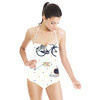 Retro Raccoons & Bear on Bikes (Swimsuit)