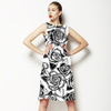 Hand Drawn Line Roses (Dress)