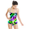 Paisley Geo Stripe in Repeat (Swimsuit)