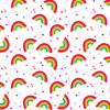 Cute Rainbow Star Print Vector Repeat (Original)