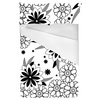 Floral Pattern in Black and White (Bed)