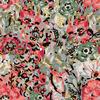 Pretty Mosaic, Subtle Vintage Floral (Original)