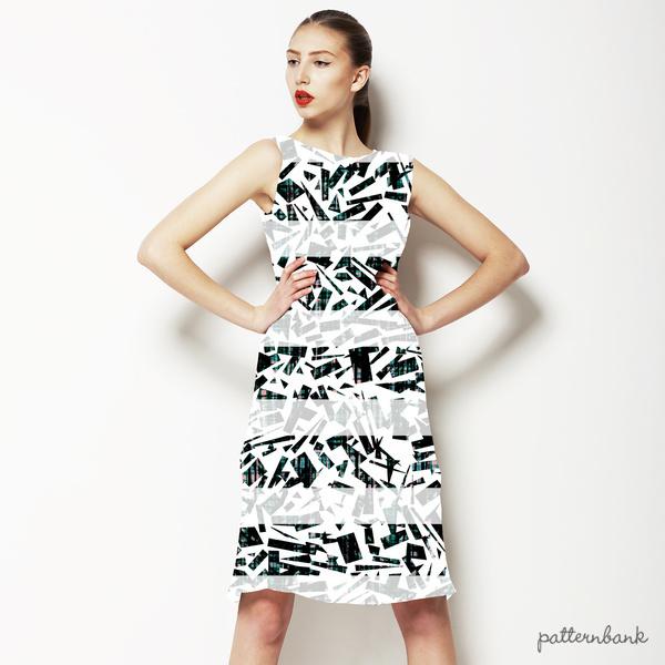 Geometric Textured Stripe