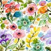 Vector Floral Scattered Flowers Bohemian (Original)
