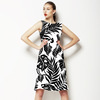 Tropical Leaves Black Silhouettes (Dress)