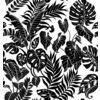 Tropical Leaves Black Silhouettes (Original)
