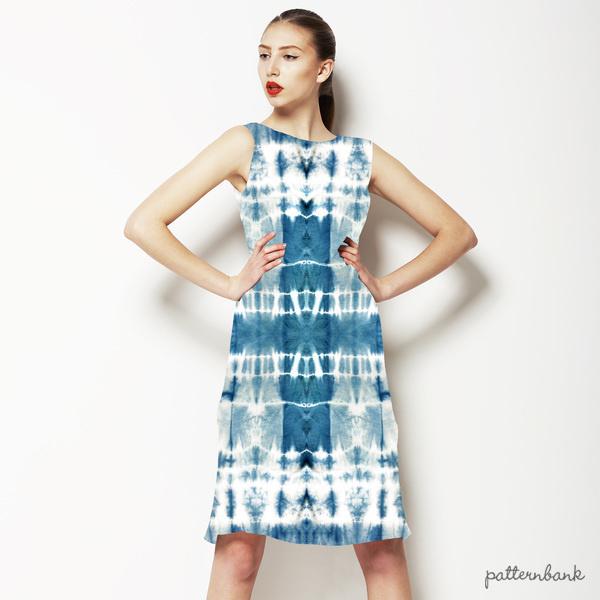 Indigo Blue Shibori Tie-Dye Pattern