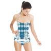 Indigo Blue Shibori Tie-Dye Pattern (Swimsuit)