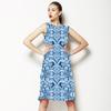 Indigo Watercolor Circles (Dress)