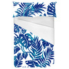 Tropical Leaves Blue Silhouettes (Bed)