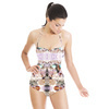 Soft Abstract Flowers Pastel Rococo (Swimsuit)