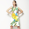 Parrots and Exotic Flowers Pattern (Dress)