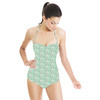 Green Basics Dotted Stripes (Swimsuit)
