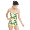 Yellow Green Tropical Leaves Pattern (Swimsuit)