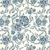 Floral Vector Roses in Blue (Original)