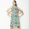 Hand Drawn Abstract Tribal Green (Dress)
